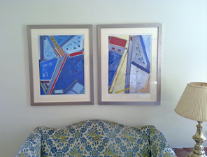 Virginia O. Roeder Collector's  Images Acrylic on canvas collaged on paper