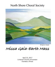 Virginia O. Roeder Exhibition Installations / flyers North Shore Choral Society