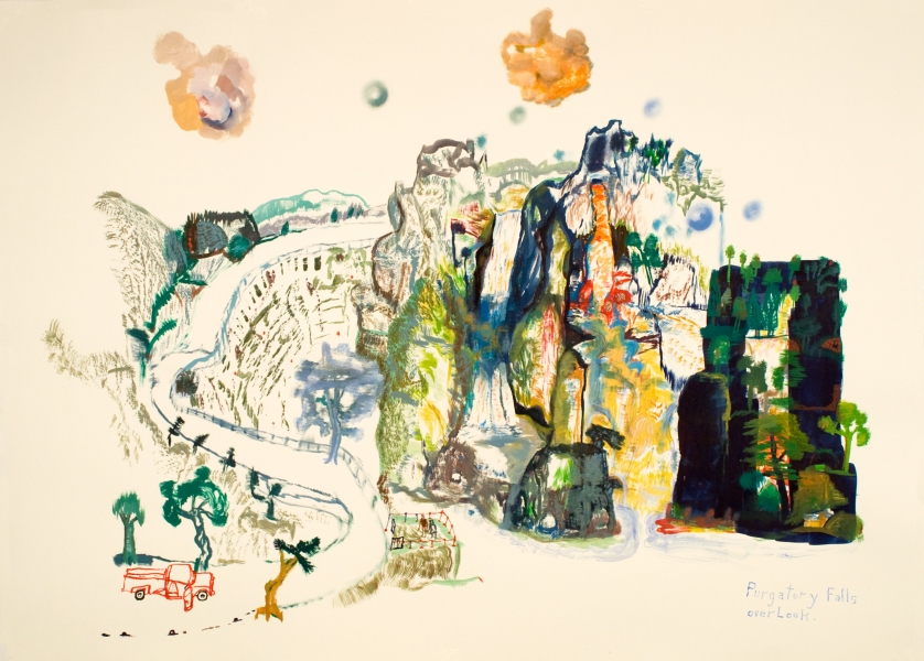 Works on paper  2000 to Present Purgatory Falls Overlook