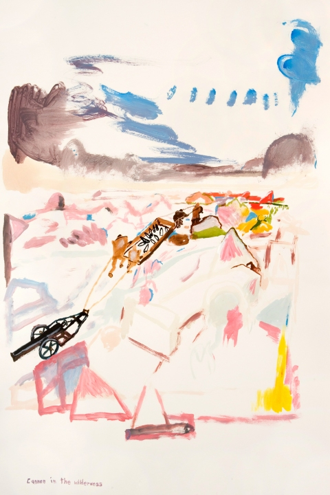 Works on paper  2000 to Present Artillery in the wilderness.