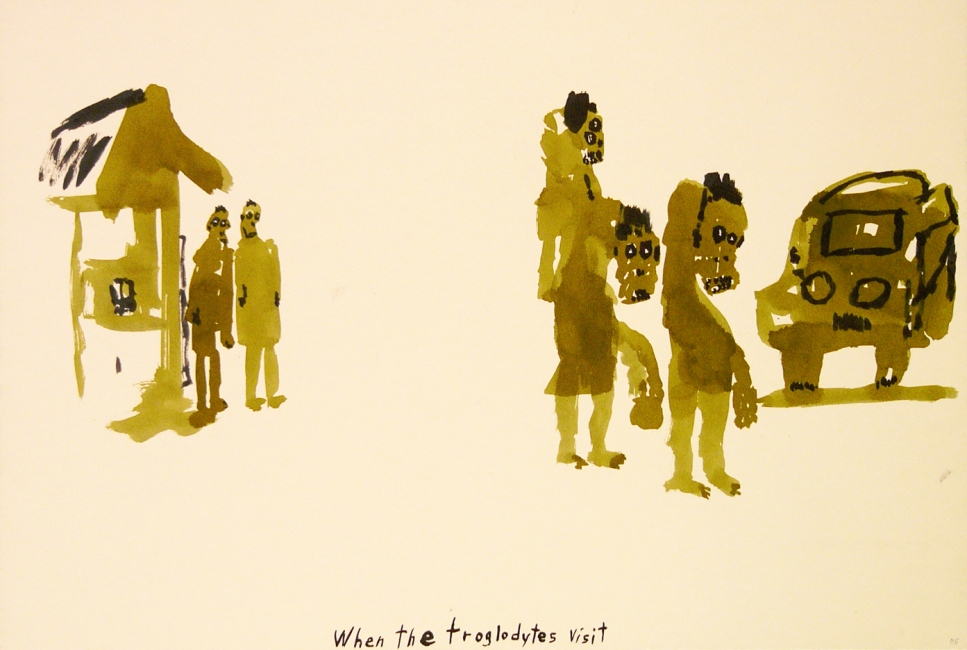 Works on paper  2000 to Present When the troglodytes visit
