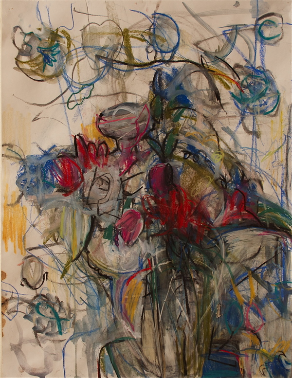 RO LOHIN Flower and Landscape Works on Paper
