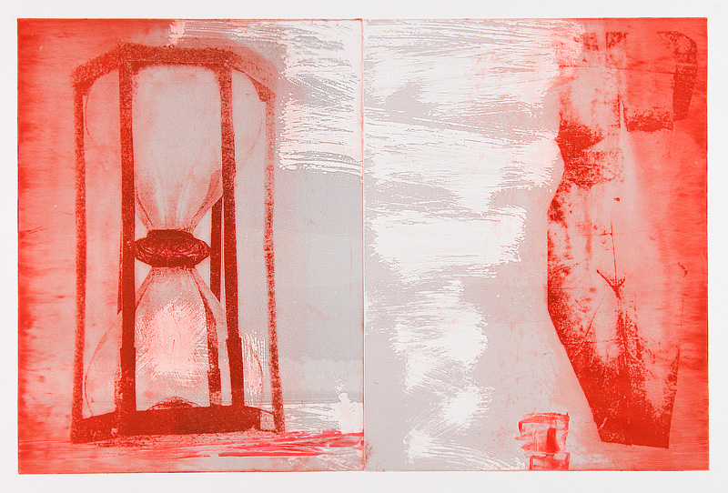 Roxanne Faber Savage VENUS+TIME 2015 Solarplate Intaglio with Viscosity Monoprint