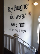 "Installation for ""You were/were not"""