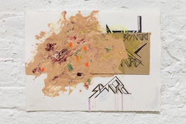 RUNE OLSEN Will to Power Acrylic and marker on paper