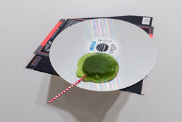RUNE OLSEN Will to Power Laserdisk, resin, steel and mosquito w/artist blood