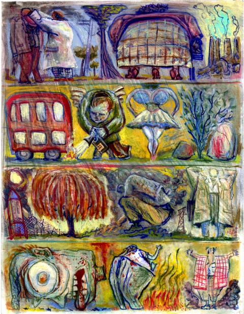 Paintings On Paper mixed media