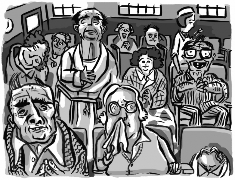 Published Illustration The Old Folks Home