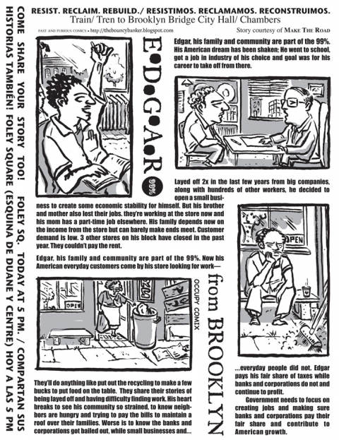 FAST and FURIOUS Comics/Occupy Comix Edgar From Brooklyn