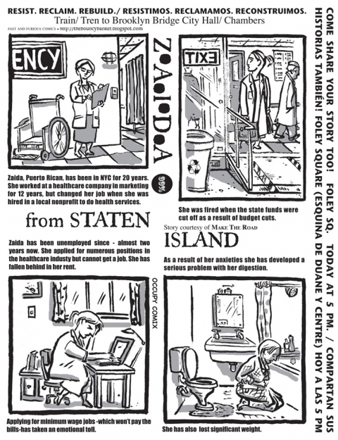 FAST and FURIOUS Comics/Occupy Comix Zaida From Staten Island