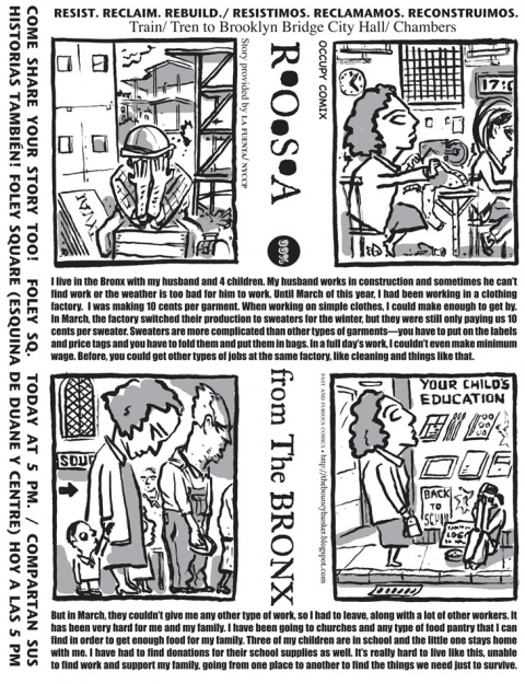 FAST and FURIOUS Comics/Occupy Comix Rosa From The Bronx