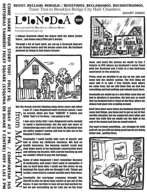 FAST and FURIOUS Comics/Occupy Comix Linda From Manhattan