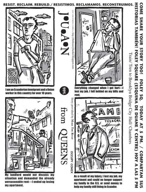 FAST and FURIOUS Comics/Occupy Comix Juan From Queens