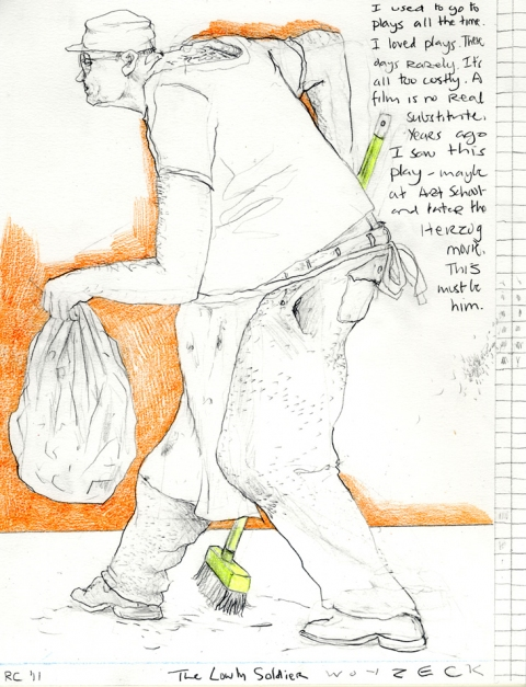 Drawing, photography and Print The Lowly Soldier Woyzeck
