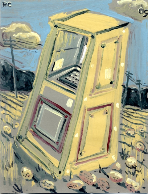 Paintings On Paper ATM in a Potato Field 3