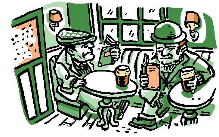Published Illustration Irish Pub