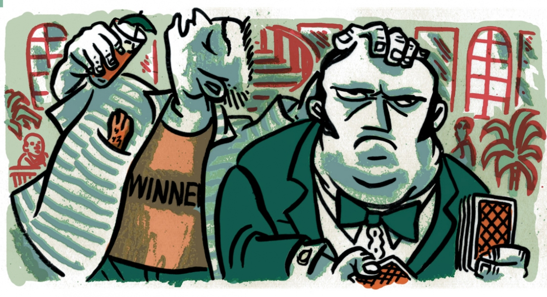 Published Illustration Obnoxious Winner