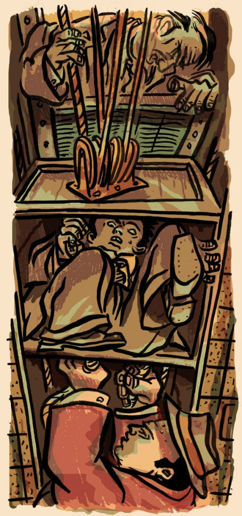 Published Illustration The Dumbwaiter
