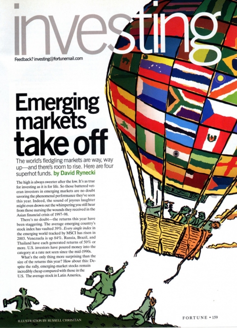 Published Illustration Emerging Markets Take Off