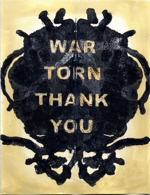 Think Blot Paintings War Torn Thank You