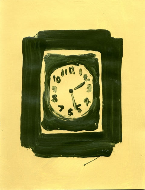 Paintings On Paper Clock