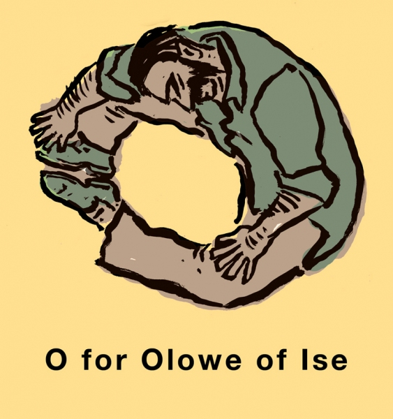 Art Alphabet O for Olowe of Ise
