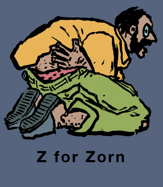Art Alphabet Z for Zorn
