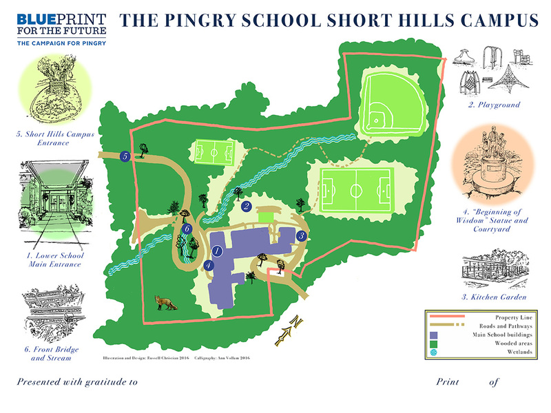 Design Map of The Pingry School, Short Hills Campus