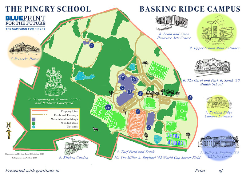 Design Map of The Pingry School, Basking Ridge Campus