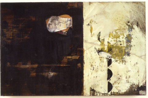 Russell Floersch stux gallery 1987-1992 gouache, acrylic and pencil on plastic laminate, plaster and wood