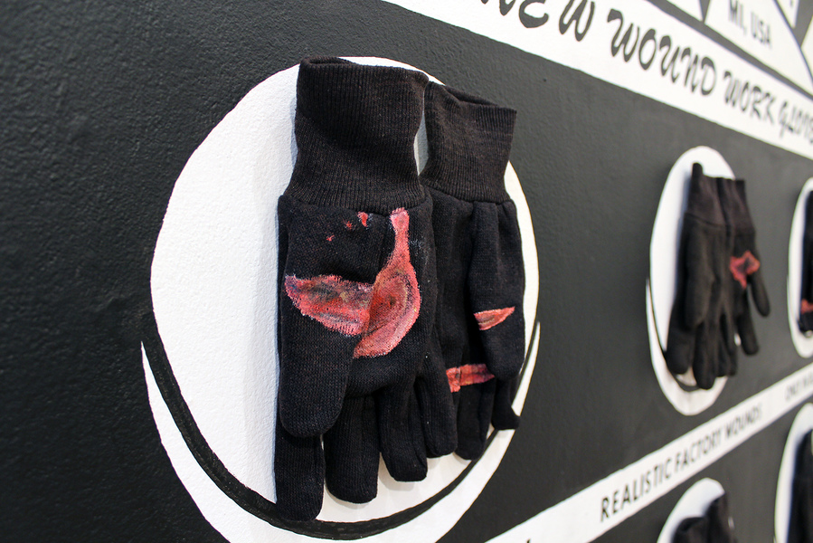 sculpture ROTLAND MFG. CO. WOUND WORK GLOVES: detail