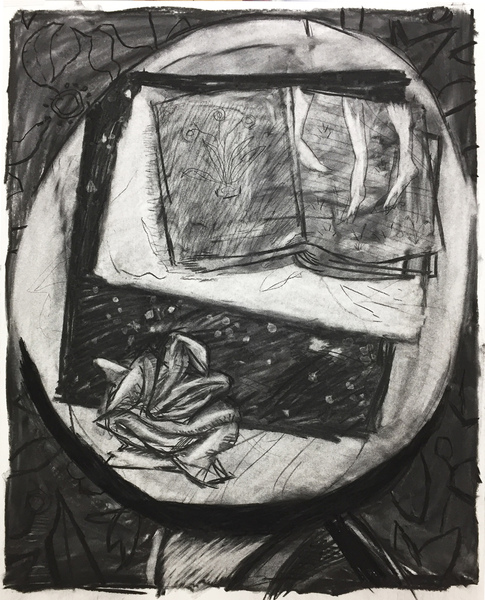 ryan syrell drawings charcoal on rag paper