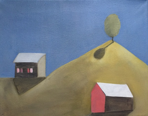 Places and Landscapes Oil on Canvas