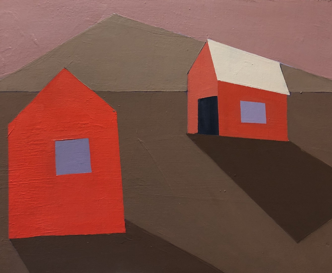 New work  Red Shack and Red Barn