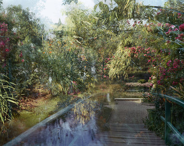 SALLY APFELBAUM  GIVERNY, PHOTOGRAPHS Archival Pigment Print