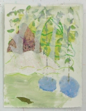 Sally Bowring Works on Paper collage - hand-made paper