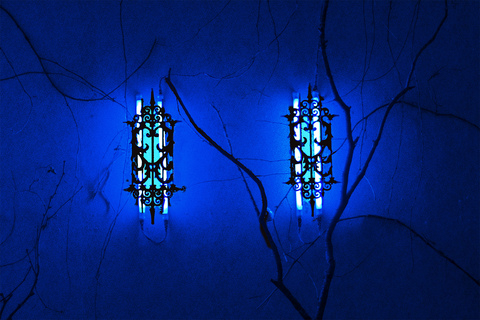 Blue Psalm  Twin Wall Sconces