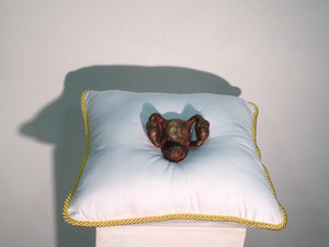 Samantha Russell Sculptures Cast Bronze, Hand Sewn Pillow
