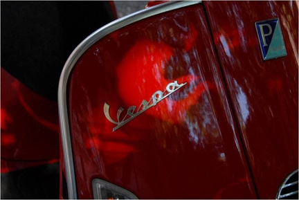 Photography Red Vespa
