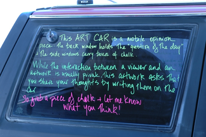 Art Car Art Car: Opinion Piece - detail of window