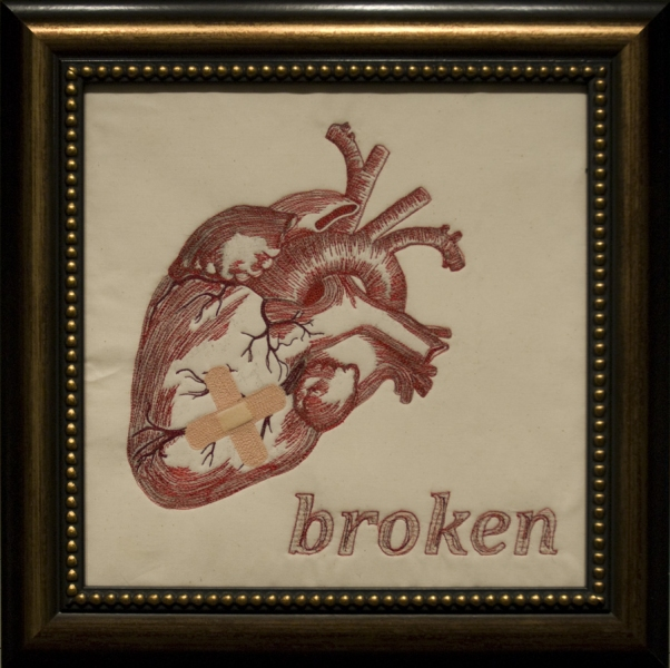 Embroidery Heartbroken