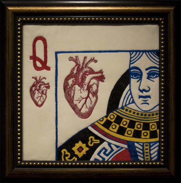 Embroidery Queen of Hearts