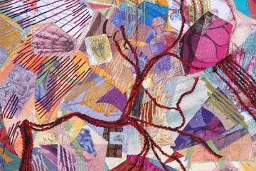 Collage Enlarged Heart - detail