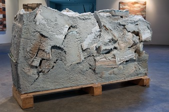 Samuel Levi Jones 2014 Paper pulp and books