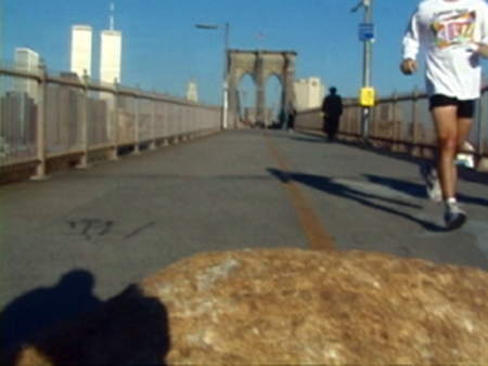Projects: 2000-2003 Continuous Splitting  - Pushing and Pulling Boulder on Brooklyn Bridge