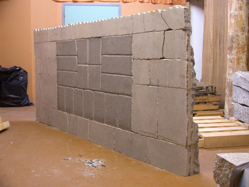 Projects: 2004-2009 Granite Wall – In Studio (back)
