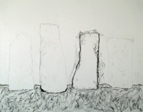 Samuel Nigro LARGE DRAWINGS from THE GRANITE WALL SERIES graphite on bristol