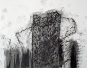 "Samuel Nigro MEDIUM DRAWINGS (11 x 14"") from THE GRANITE WALL SERIES graphite and lithograph crayon on bristol"