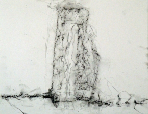 "Samuel Nigro MEDIUM DRAWINGS (11 x 14"") from THE GRANITE WALL SERIES graphite on bristol"