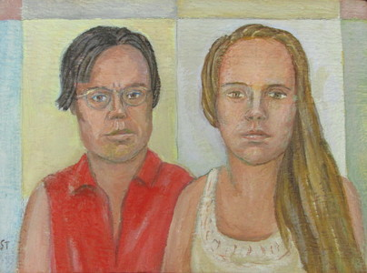 Sam Thurston Portraits oil on board